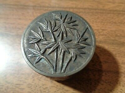 Antique Chinese Solid Silver Pill Box