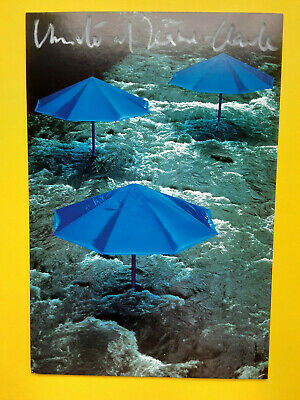 "Christo and Jeanne-Claude  Signed ,  "" Umbrella Project > Ibaraki Japan "" 4X6"