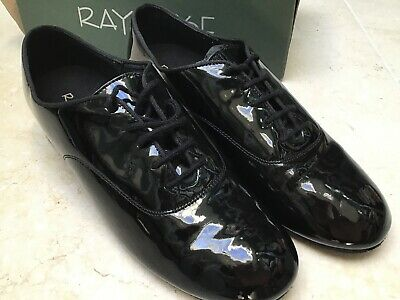 RAY ROSE Black Patent mens Dancing Shoes Size 9