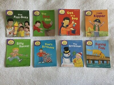 8 books - Oxford Reading Tree Level 2 - Phonics and First Stories Biff Chip