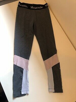 McKenzie Girls Leggings Sports Age 8-10 Grey Pink White