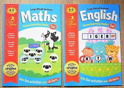 Reception Home Learning Educational Activity Book Maths English x 2 Bundle 4 5