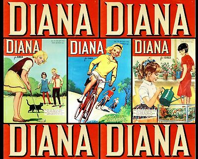 Diana For Girls Vintage 1960s Magazines Comics 3 x Issues from May 1965