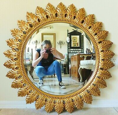 Large The Ay Company 36 Ornate, How To Hang A Large Beveled Mirror