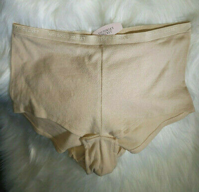 NWT Victorias Secret Signature Waist Boy Short Cotton Panty Nude  X-Large