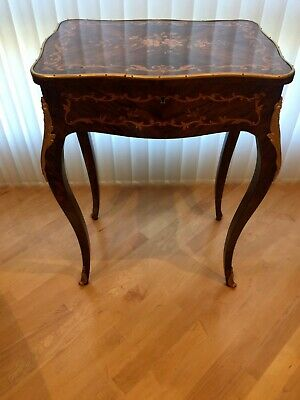 Antique French Louis XVI Inlade with Bronze Ormolu Table.