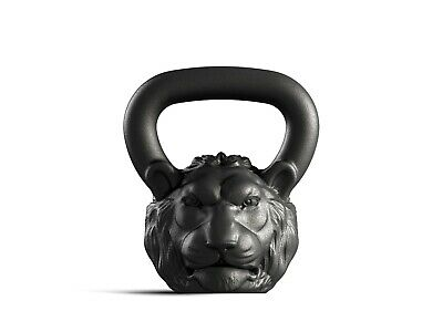 Designer Cast Kettlebell Iron Lion Head Russian Weight 16kg 35lb