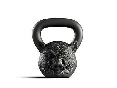 Designer Cast Kettlebell Iron Boar Head Russian Weight 16kg 35lb