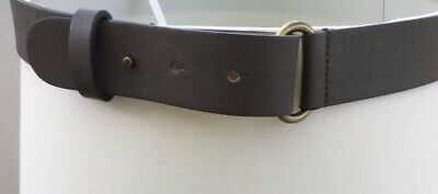 Khaki Green Leather Belt Pablo/Gerard Darel Size 30.5-31.5 Inches