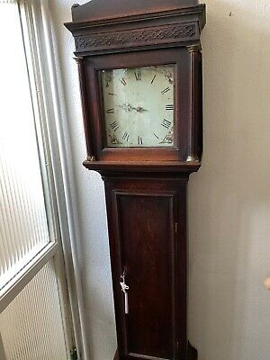 Grandfather clock long cased. Very early single hand striking mechanism.