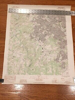 1983 Topographic Map GREENVILLE SC  Dept of Interior Geographical Survey