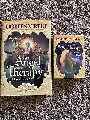 Angel Therapy Oracle Cards And Book Set  by Doreen Virtue