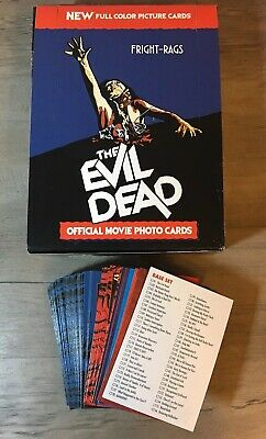 Evil Dead Trading Cards Set With Box Fright-Rags Horror