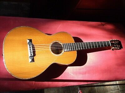 D.L. Noble Parlor Model Aoustic Guitar -  Exceptional Figure !  Very Good !