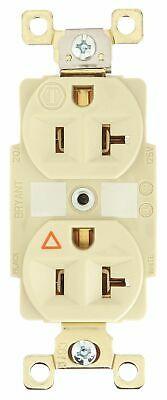 Bryant 20,  Harsh and Heavy Use Industrial,  Receptacle,  Ivory,  No Tamper