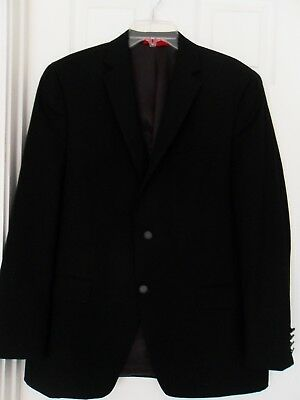 New without Tag Men's Alfani Slim Fit Black Jacket Size 44 R Wool Blended