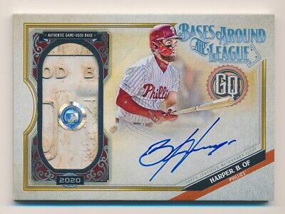 2020 Topps Gypsy Queen Bryce Harper On Card Auto Game Used Base SSP #15/20