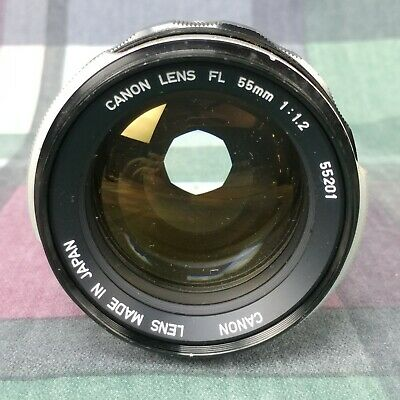 CANON Camera Lens FL 55mm 1:1.2 55201 Made in Japan