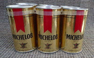 Vintage 6-Pack Michelob Gold Miniature Cans Unopened Each Contains 2 Golf Balls