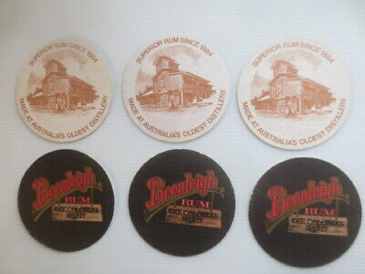 6 x BEENLEIGH  Rum Spirits Australian 1990,s Issue collectable COASTERS