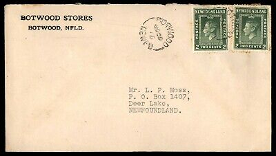 Mayfairstamps NewFoundland Botwood Stores to Deer Lake Cover wwe_07751