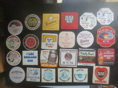 24 different  RUM DISTILLERY ALL Australian  Issue COASTERS