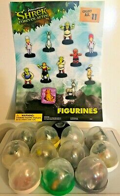 "Shrek Forever After Figurines LOT OF 11 Toy Vending 2"" Capsules NEW Dreamworks"