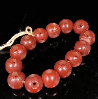 Ancient China Natural weathering Old Agate Transfer beads good luck Bracelets