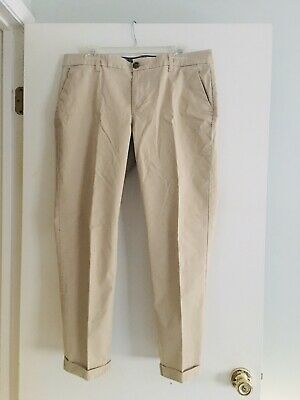 Tommy Hilfiger Women's Khaki Tan Cuffed Pants Slacks Size 12 EUC