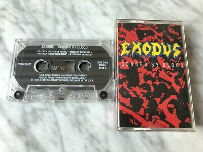 Exodus Bonded By Blood Cassette Tape 1989 Combat US PRESS VERY RARE!