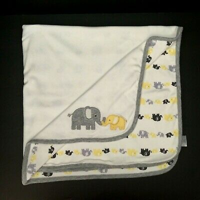 Gymboree Yellow Grey White Elephant Baby Blanket Outlet 2016 Security Lovey