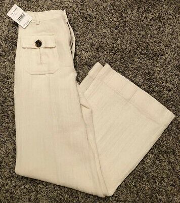 NEW Free People Womens Boca Bell Pants White Size 8 $148 FREE Shipping