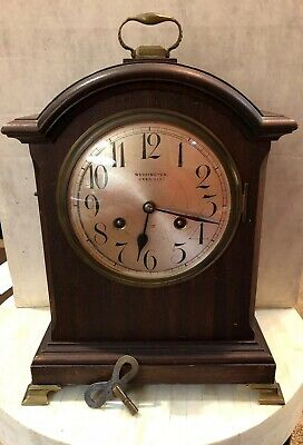 Antique Mantle Clock By Unghans A12. 8 Day Strike Early 1900s 8 Star J Uxbridge