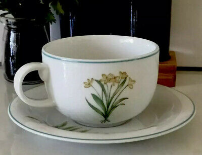 Cup And Saucer Set Handmade And Decorated In Bangladesh Foliage & Flowers