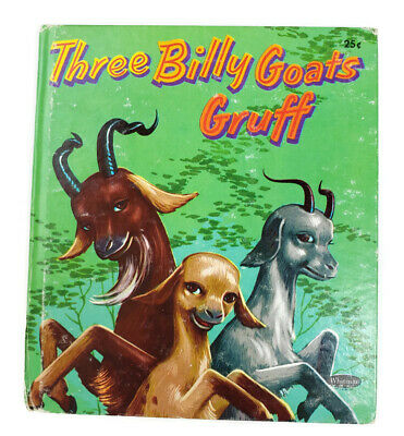 Three Billy Goats Gruff 1954 Child Picture Book Tell a Tale Whitman Leej Ames