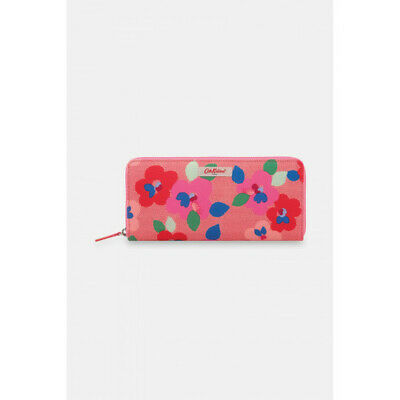 Cath Kidston Painted Pansies Travel Continental Wallet - Radical Red - BNWT