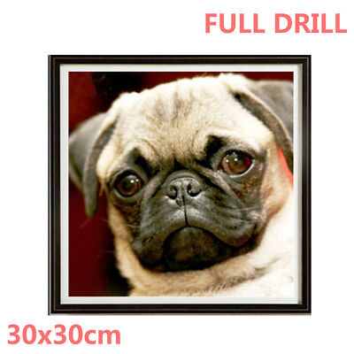 UK Doggy DIY Full Drill Diamond Painting Embroidery Cross Stitch Kit Craft QZ
