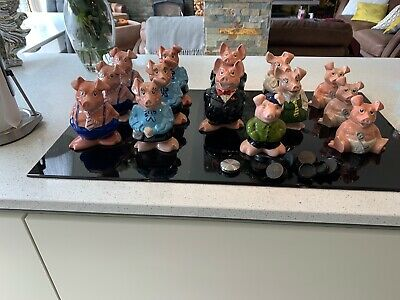 Nat West Pigs X 14 Inc Wesley Stoppers Jot Lot (couple have tinyest flaw)