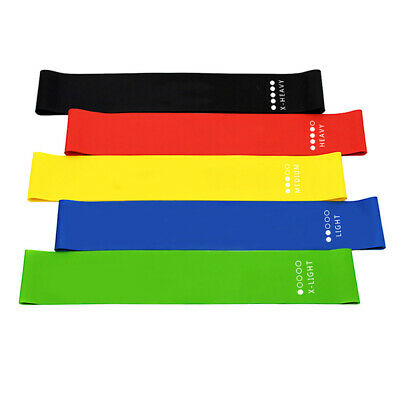 RESISTANCE BANDS LOOP SINGLES - Home Workout Exercise Glutes Yoga Pilates 5Color