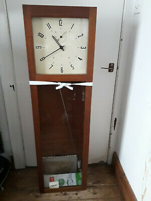 Vintage Retro Industrial Style Synchronome Wall Clock Made By Itr