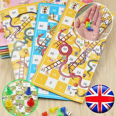 Traditional Snakes & Ladders Family Board Game Playset Children Toys Best Gift**