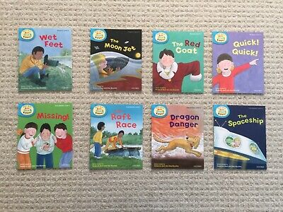 8 books - Oxford Reading Tree Level 3-4 Phonics and First Stories Biff Chip