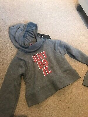 Nike Just Do It Girls Cropped Hoodie Size XS 6-8yrs