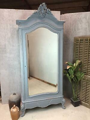 Antique French Wardrobe / Armoire / Single Door Armoire