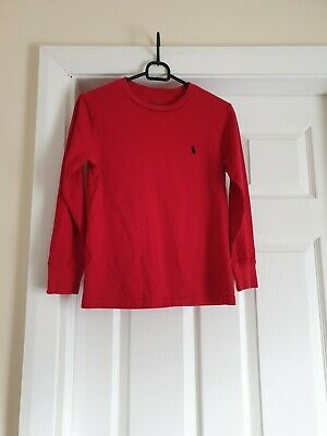 """T-Shirt """"Polo Ralph Lauren"""" Red Color Size: S ( 10 -11 Years) UK Used"""