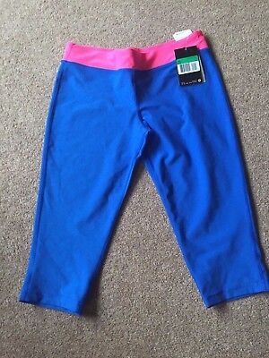 Girls Nike Cropped Leggings - blue and pink - XL (13-15 years) - new with tags