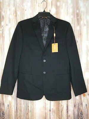 NWT Tallia Big Boy Two Button Blazor Jacket Sz 16R W Black Orange $178