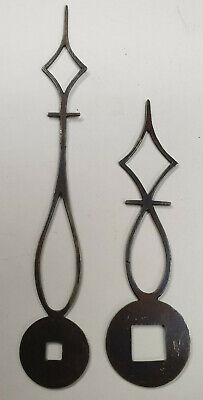 A Fine Pair Of Early Small Steel Antique Bracket/Lantern Clock Hands-No Reserve!