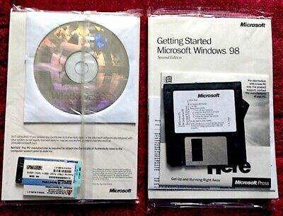 Microsoft Windows 98 Second Edition New and Factory Sealed