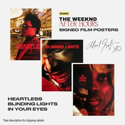 The Weeknd Limited AUTOGRAPHED After Hours Posters *PRE-ORDER*